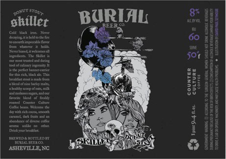 Burial Beer Co Skillet Donut Stout Draught And Bottle