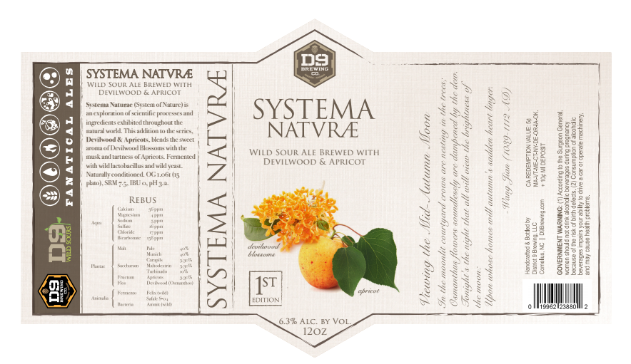 Upcoming events d9 brewing systema naturae wild sour series 1st